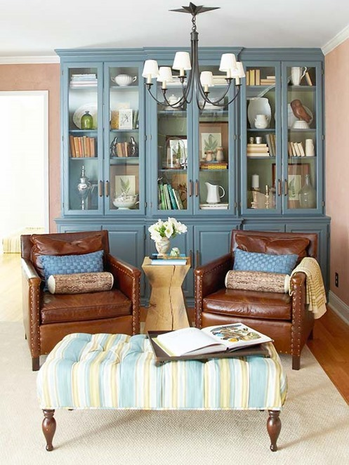 blue-cabinets-leather-chairs-bhg